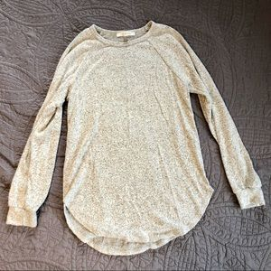 Soft Heathered Gray Long Sleeve Shirt   Small